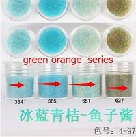 Boxed 10ml 100pcs/lot Brand New 2014 summer Mini Caviar Nail Art Polish Beads Manicures 3D Nail Art Decoration ice blue series