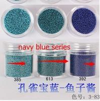 Boxed 10ml 20pcs/lot Brand New 2014 summer Mini Caviar Nail Art Polish Beads Manicures 3D Nail Art navy blueseries