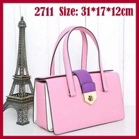 2014 new design women handbag fashion brand women totes bags high quality 2711 women leather handbags