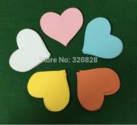 wedding tags colorful DIY Blank Heart Shape label Gift Tags Hang tags scrapbooking card making memory 100pcs/lot baking label
