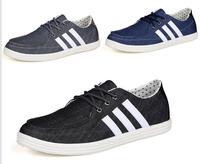 Hot England Flat Men shoes Fashion Lace up Washed Cowboy shoes Retro Canvas shoes Popular Slip on Leisure shoes 804