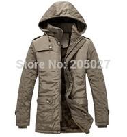 2014 High Quality Plus Size 3XL Brand New Long Winter Jackets Men Detachable Hood Winter Coats Men Down Jackets Freeship