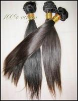 "4 bundles Peru-vian vir-gin soft  straight hu-man hair 10""-30""(400g/lot ) non-processed Raw hairs grade 7A"