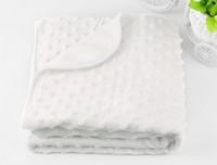 2014 Real Sale Cobertor Baby Blanket/children Boy's Girl's Soft Coral Blanket/100*75cm/newborn Blankets/pink White/retail 1 Pc