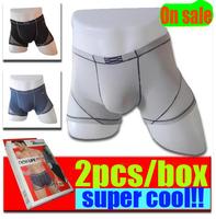 4XL available man cool modal super elastic boxer underwear panties soft cozy 3 colors random send 2pcs/pack