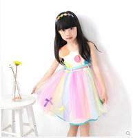 Summer sleeveless baby kid dresses  princess girl party toddler dress