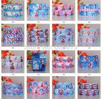 "2014 Retail Hot Sale 30 yards 7/8""(22mm) Frozen princess girl cartoon printed grosgrain ribbon Mixed 10color for u free shipping"