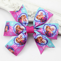 Set of 6 FrozenBoutique Hair Bows Clip Elsa Anna Hair Clip Girls Hair Accessories Headwear