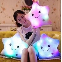 Colorful luminous hold pillow cushion for leaning on