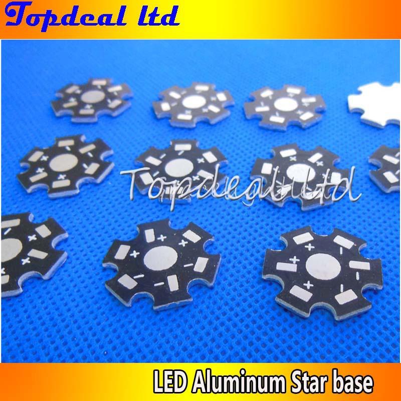 100pcs 1W 3W 5W High Power LED bead PCB Aluminum Star base plate Circuit board for DIY(China (Mainland))