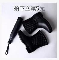 free shipping,Big brand fashion short rain boots waterproof women water shoes,women rainboots,2 colors,Euro 40