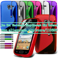 Free shipping 1pcs/lot New High Quality S line Soft TPU Gel Skin Case Cover For Samsung Galaxy Ace 2 I8160