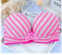 3pcs/lot new Candy color  girl series bra set  push up type bra set  cotton health underwear wholesale
