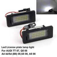 Excellent Ultrabright 3528 Epistar Led License plate lamp light for Audi TT 07,Q5 08,A4 4d/5d (B8) 08,S5 08,A5 08,No OBC error