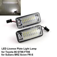 Excellent Ultrabright 3528 Epistar Led License plate lamp light for Toyota 86 GT86 FT86 Subaru BRZ Scion FR-S,No OBC error