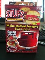 80PCS/lot New 2014 Hamburger Burger Maker Press STUFZ BBQ ferramentas barbecue novelty households Kitchen cooking tools Y73