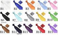 NEW neck tie set necktie hanky cufflinks soid color men's ties sets Handkerchiefs Pocket square tower cravat-164C