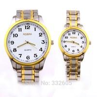 Rosra Full Stainless Steel Quartz Dress Watch Clock For Women Lady Mens Lover 2014 Hub Relogio Feminino Casual Analog Wristwatch