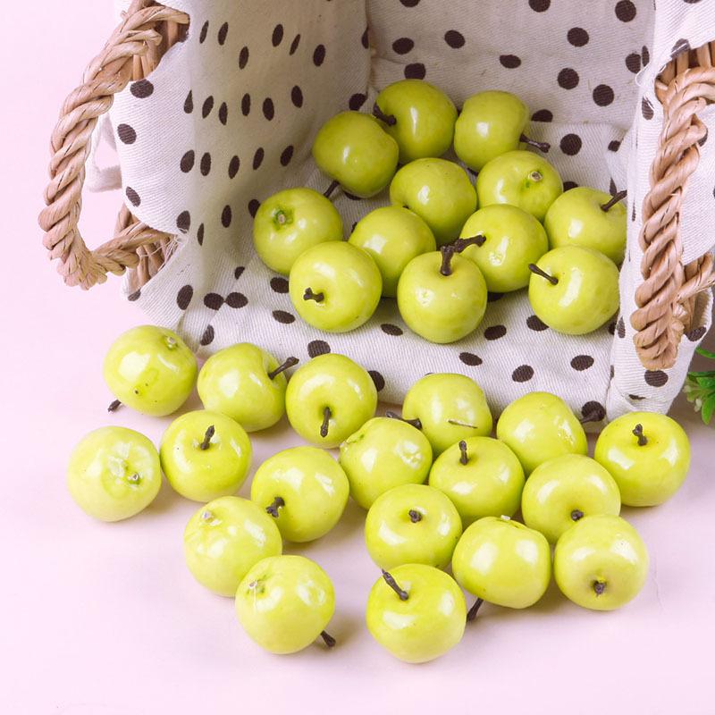 Keuken Decoratie Appel : Fake Mini Green Apples Fruit