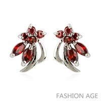 2014 New design Swiss Zircon Stud Earrings exaggerated Austrian Crystal top Quality Stud earrings for women (FE-146)