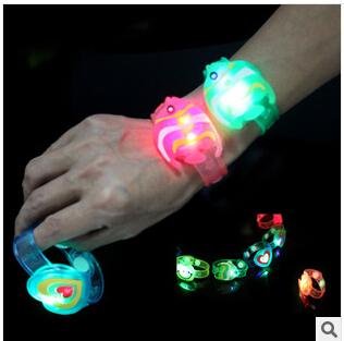 12pcs/lot Hot sale festive supplies led bracelet flash wrist band glow bracelet light up bracelet well for christmas HH04200MU(China (Mainland))