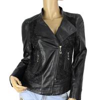2015 New Fashion Womens Slim Leather Jacket Coat M-3XL Short Paragraph Diagonal Zipper PU outerwear coats Free Shipping 8987
