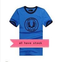 Hot Style ~ men's short-sleeve fashion letter print o-neck short sleeve T-shirt for men