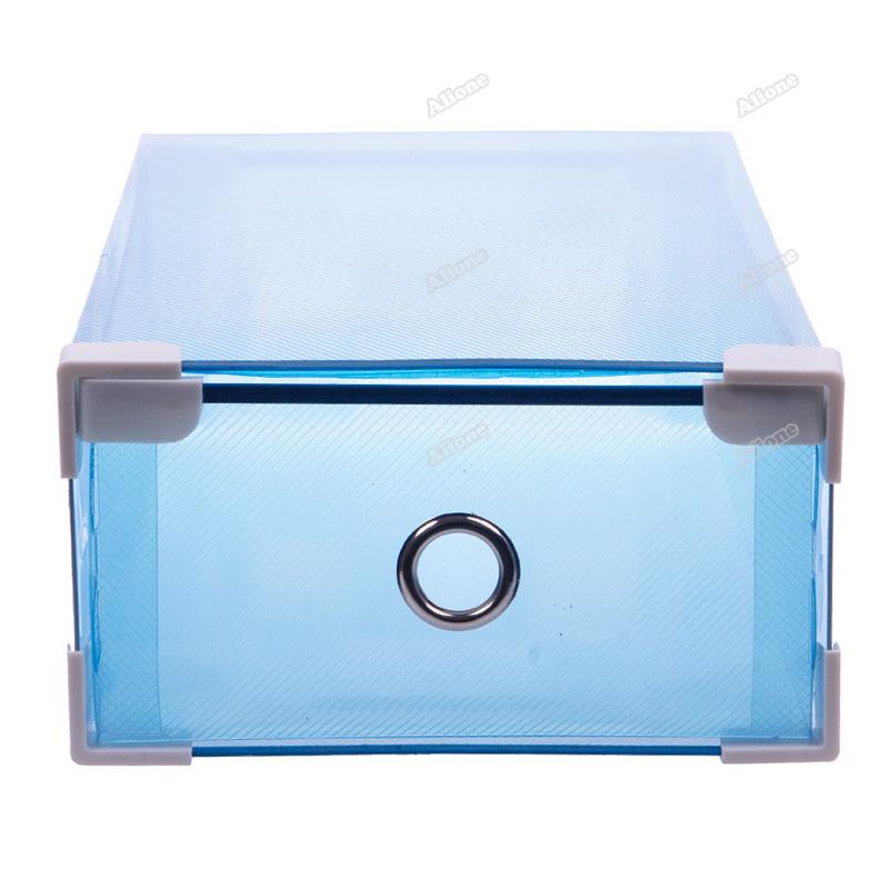 bestsky Hot armazenamento de gaveta colorida Container Organizador Caixa dobrável de plástico Caixa de Sapato [White] [ 24 horas expedição ](China (Mainland))