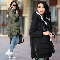 Winter wadded jacket female plus size clothing cotton-padded jacket tooling mm loose thickening cotton-padded jacket outerwear