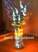 free shipping New 50cm 3528 SMD 4.5V AA Battery Powered led flower vase light