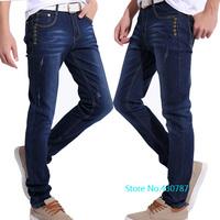 New men's jeans selling high quality 100% cotton men's Slim pencil jeans 28/38