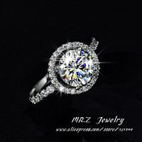 Factory Direct Sale Luxury Wedding Bands Cubic Zirconia Ring Women Aneis De Ouro 10pcs/lot Free Shipping