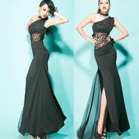 Evening dress long oblique fashion design
