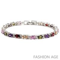 2014 New Design Fashionable AAA Quality Cubic Zircon Bracelet Platinum Plated Bracelet&Bangles For Women (FB-05)