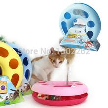 Ratones creativo Pet Cat Toy primavera Loco Multifuncional Disco Play Activity envío gratuito(China (Mainland))
