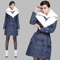 Million doll for ar bill fashion stripe lamb rex rabbit hair female long design down coat