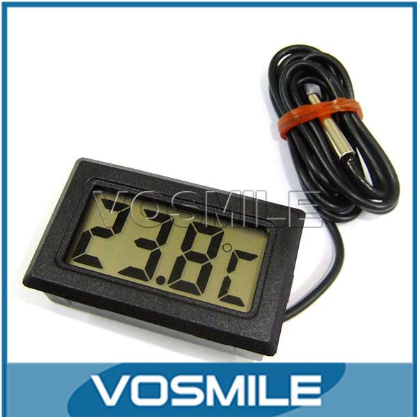 5pcs/lot -50-99 Celsius Degrees Gauge Mini Digital Thermometer Fridge Freezer Chiller Temperature Test Meter 2 Meter Wire#200686(China (Mainland))