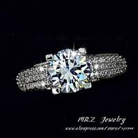 Discounts Aneis Femininos Wedding Bands White Cubic Zirconia Fashion Rings 10pcs/lot Free Shipping