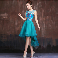 Summer evening dress banquet double-shoulder formal dress