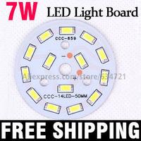 New 7W 5730 SMD 18pcs LED Light Board Aluminum Base Plate PCB For LED Bulb Spotlight Ceiling Lamps
