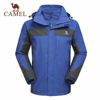 Camel for outdoor Men 2014 male jacket outdoor waterproof windproof outdoor jacket twinset three-in