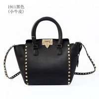 2014 Womens real leather Rockstud top handle Totes & shoulder bag small size Free Shipping