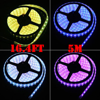 (100Pack)  5M 300leds IP65 Flexible LED Strip Tape Ribbon Rope Lights + Adapter