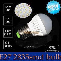 1pcs pk cob led lights High power led lamp E27 3W 4w 5w 6w 7w 9W 12W 15w 2835SMD AC220V Energy saving lamps office lamp lighting