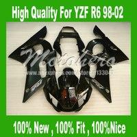 YZF R6 Fairing for Yamaha YZF R6 1998-2002 YZFR6 98-02 YZF R6 98 99 00 01 02 Fairings kit #5277h black bodywork