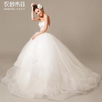 2014 new wedding dress The new original flower nail drill a small tail Fashionable wedding dress 2014