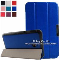 1PC Case+Stylus Ultrathin Crazy Horse 3-Folding Magnetic Case Wake Sleep Smart Case For ASUS Fonepad 7( FE170CG FE7010CG