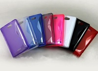 2pcs/lot Free shipping New S Line TPU Silicone Gel case for  Nokia Asha 503 502
