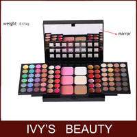 HOT! Professional  78 Color Cosmetics Makeup Set Fashion 48 Eye Shadow Palette Full Pigment+24 lip gloss+6 blush