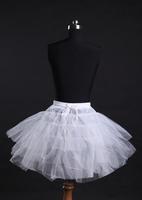 Free shipping 2014 Fashion Romantic White Hoop 4 Layer Short Ballet Skirt Crinoline Petticoat Underskirt Slips